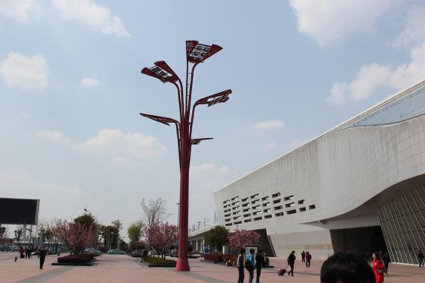 安徽火车站景观灯